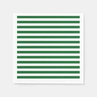 Serviettes Jetables Vert et blanc barre les serviettes de papier