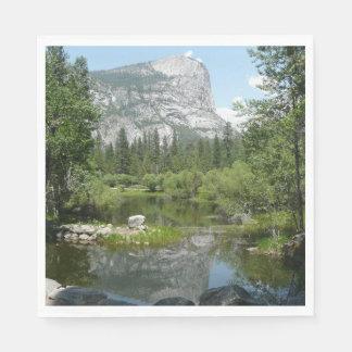 Serviettes Jetables Vue de lac mirror en parc national de Yosemite