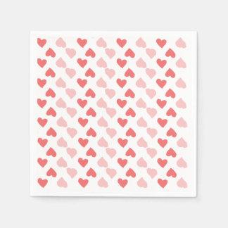 Serviettes minuscules de coeurs serviette jetable