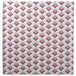 Serviettes polonaises de tissu d'amour