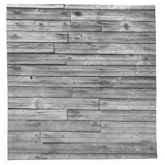 Serviettes - tissu - bois patiné de grange