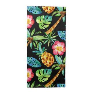 Serviettes tropicales de motif de Plumeria