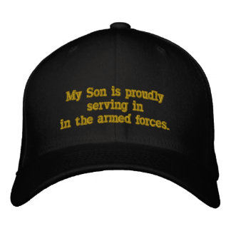 Servir dans les forces armées casquette brodée