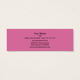S'est levée la couleur solide mini carte de visite
