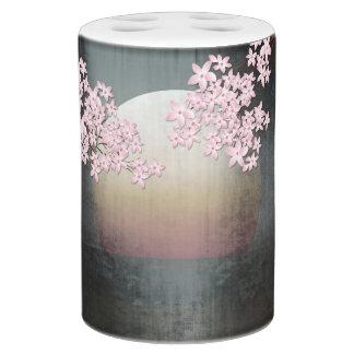 Set De Salle De Bain Conception de lune de fleurs de cerisier
