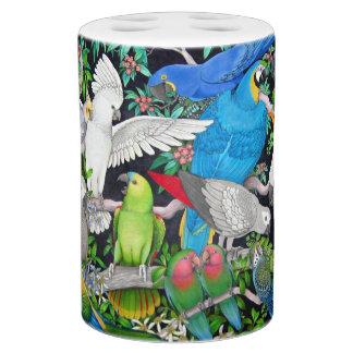 Set De Salle De Bain Perroquets d'animal familier du monde