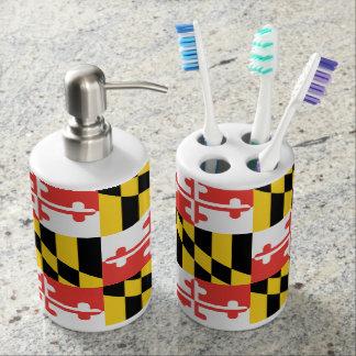 Set De Salle De Bain Support de brosse à dents de drapeau du Maryland