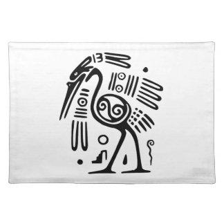 Set de table avec la conception maya d'oiseau