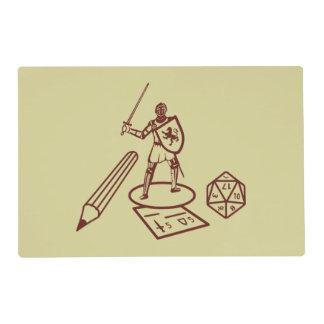 Set de table de Tableau de RPG Set De Table Stratifié