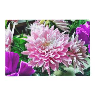 Set de table floral assez rose set de table stratifié