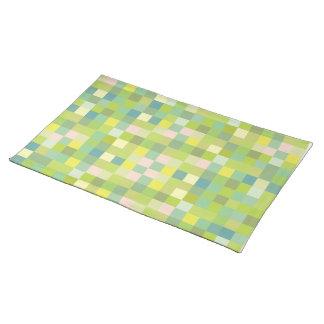 Sets de table modernes de concepteur de motif vert