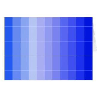 Seulement bleu Ombre de couleur Carte De Vœux