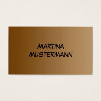 SEULEMENT gradients de COULEUR - brun Cartes De Visite
