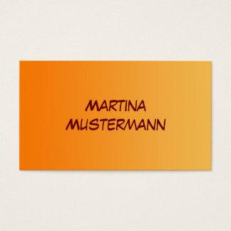 SEULEMENT gradients de COULEUR - orange Carte De Visite Standard