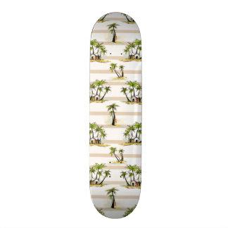 Shack tropical et paumes skateboard old school  21,6 cm