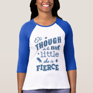 Shakespeare elle est citation typographique féroce t-shirt