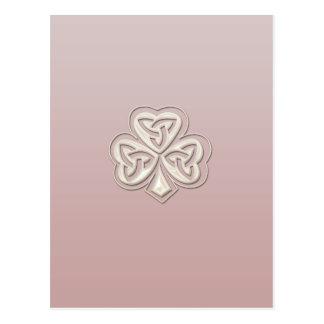 Shamrock chanceux de perle chic chique carte postale