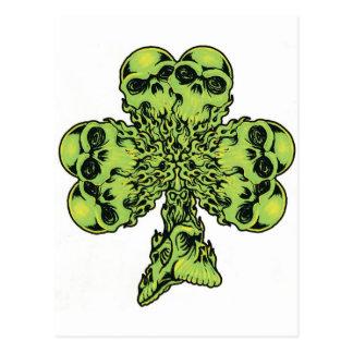 Shamrock de crâne I Carte Postale