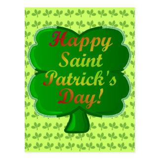 Shamrock heureux du jour de Patrick de saint Carte Postale