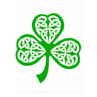 Shamrock irlandais carte postale