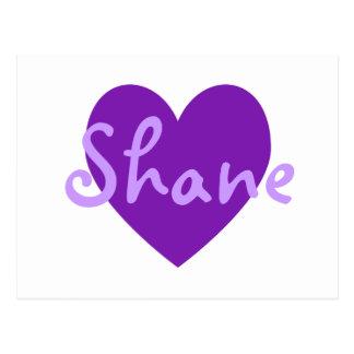 Shane dans le pourpre carte postale