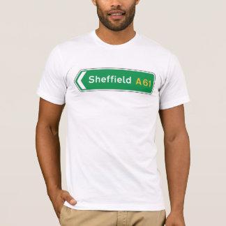 Sheffield, panneau routier BRITANNIQUE T-shirt