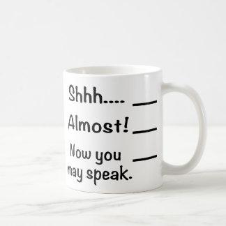 Shhh tasse de voyage