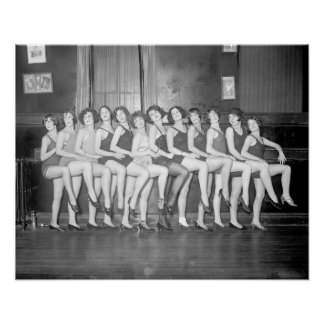 Showgirls, 1925. Vintage Foto Poster
