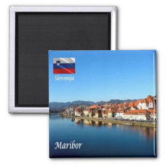 SI - La Slovénie - la Drave à Maribor Aimant