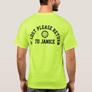 Si svp perdu tee - shirt de retour de slogan t-shirt