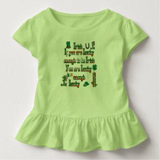 Si vous êtes assez chanceux pour être irlandais t-shirt pour les tous petits