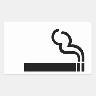 Sigaret Rechthoekige Sticker