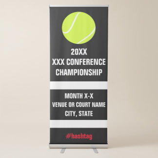 Signage de tournoi de championnat de conférence de banderole rétractable