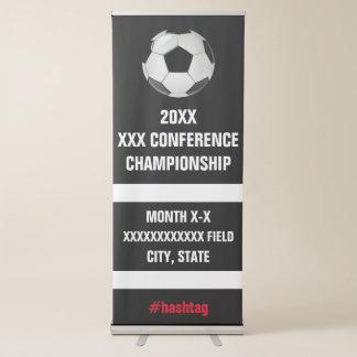 Signage de tournoi de conférence du football banderole rétractable