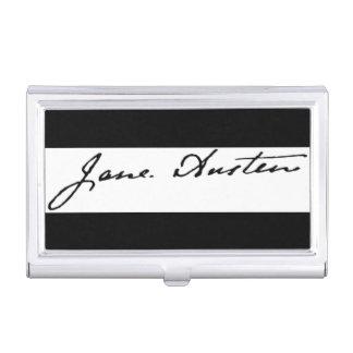 Signature de Jane Austen Boîtiers Pour Cartes De Visite