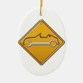 Signe automatique d'ambre de clé ornement ovale en céramique