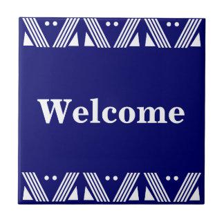 Signe bienvenu de Deco Petit Carreau Carré