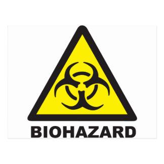Signe d'avertissement de Biohazard Cartes Postales
