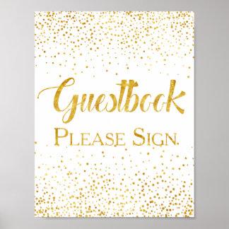 Signe de Guestbook de mariage de confettis de