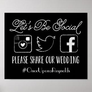 Signe de Hashtag de mariage (choisissez votre