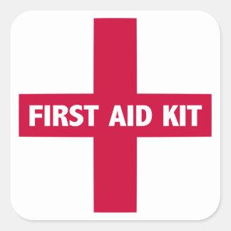 Signe de kit de premiers secours sticker carré