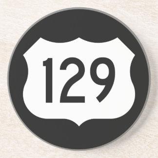 Signe de l'itinéraire 129 des USA Dessous De Verre En Grès