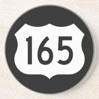 Signe de l'itinéraire 165 des USA Dessous De Verre En Grès