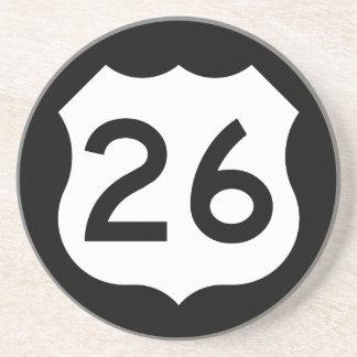 Signe de l'itinéraire 26 des USA Dessous De Verre En Grès
