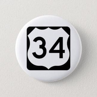 Signe de l'itinéraire 34 des USA Badge Rond 5 Cm