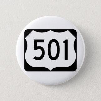 Signe de l'itinéraire 501 des USA Badge Rond 5 Cm