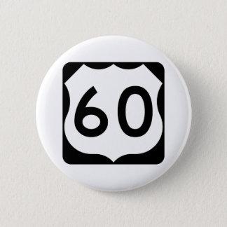Signe de l'itinéraire 60 des USA Badge Rond 5 Cm