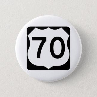 Signe de l'itinéraire 70 des USA Badge Rond 5 Cm