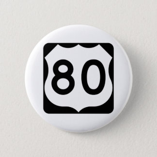 Signe de l'itinéraire 80 des USA Badge Rond 5 Cm