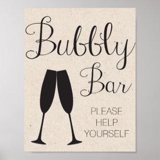 Signe de mariage de barre de Champagne
